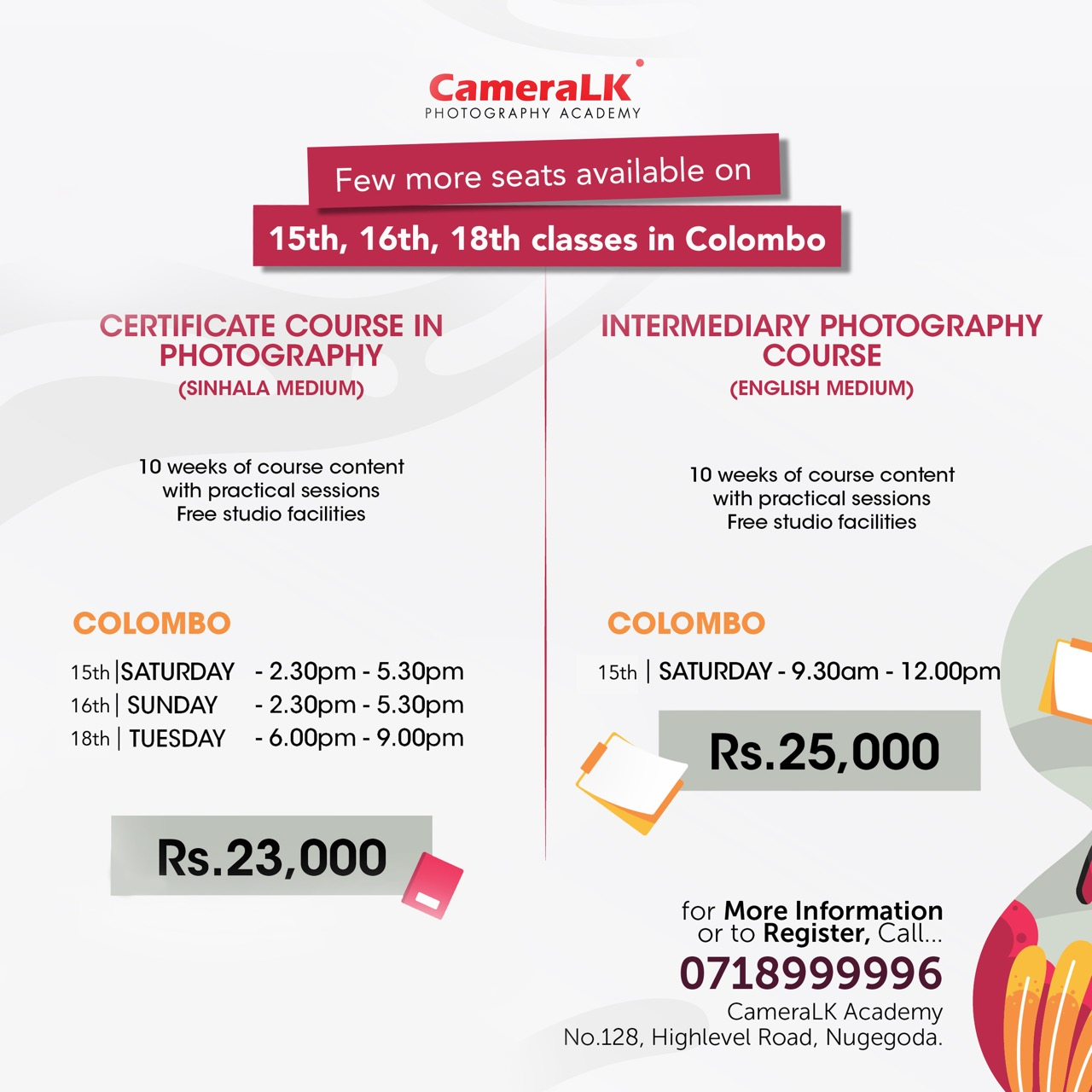 CameraLk Photography Academy new batch commences !!!!