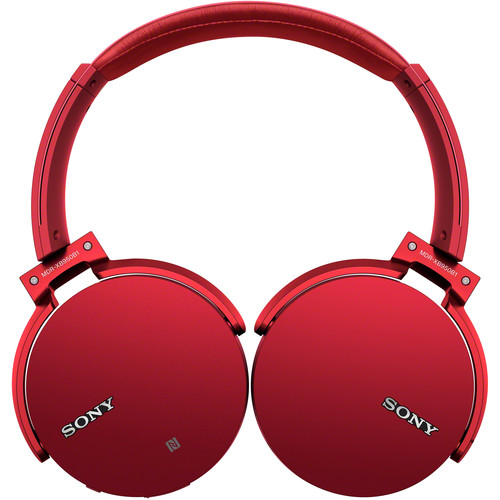 Sony XB950B1 EXTRA BASS Bluetooth Headphones (Red)