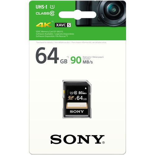 Sony 64GB SF-UY3 Series UHS-I SDXC Memory Card