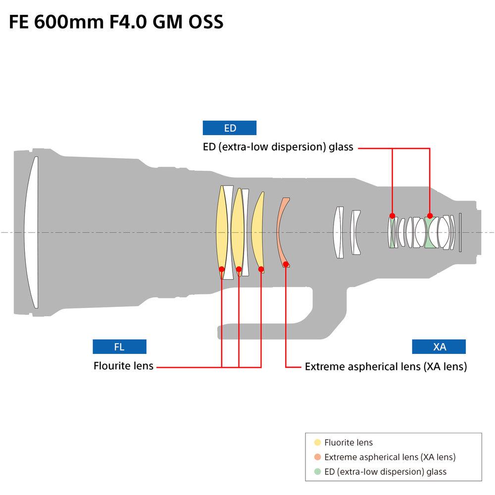 Sony FE 600mm f/4 GM OSS Lens