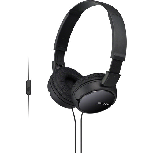 Sony MDR-ZX110AP Extra Bass Smartphone Headset (Black)