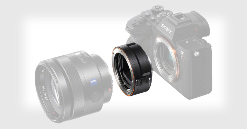 Sony Unveils New A-Mount to E-Mount Adapter with Built-In AF Motor