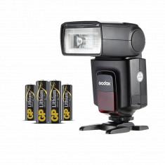 Godox Flash Light TT520 II GN33 Speedlite with GP AA 4 Batteries