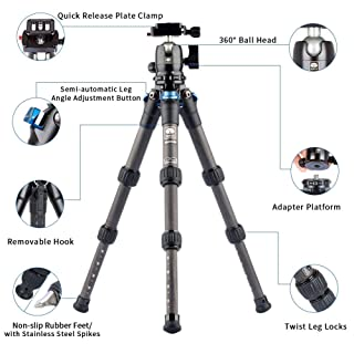 SIRUI AM2-Series AM-223 ProfiLegs Carbon Fiber Mini Tripod with B-00K Ball Head (Black)