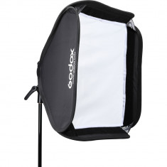 Godox S2 Bowens Mount Bracket with Softbox, Grid & Carrying Bag Kit (60x60cm))