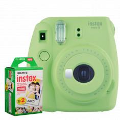 FUJIFILM INSTAX Mini 9 Instant Film Camera (Lime Green) With FUJIFILM INSTAX Mini Instant Film (20 Exposures)