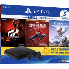 PS4 Mega Pack Marvels Spider-Man Game Of The Year Edition / Horizon Zero Dawn / Gran Turismo 1TB