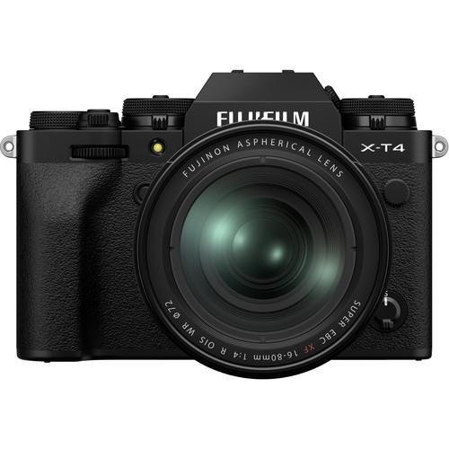 FUJIFILM X-T4 Mirrorless Digital Camera with 16-80mm Lens (Black)