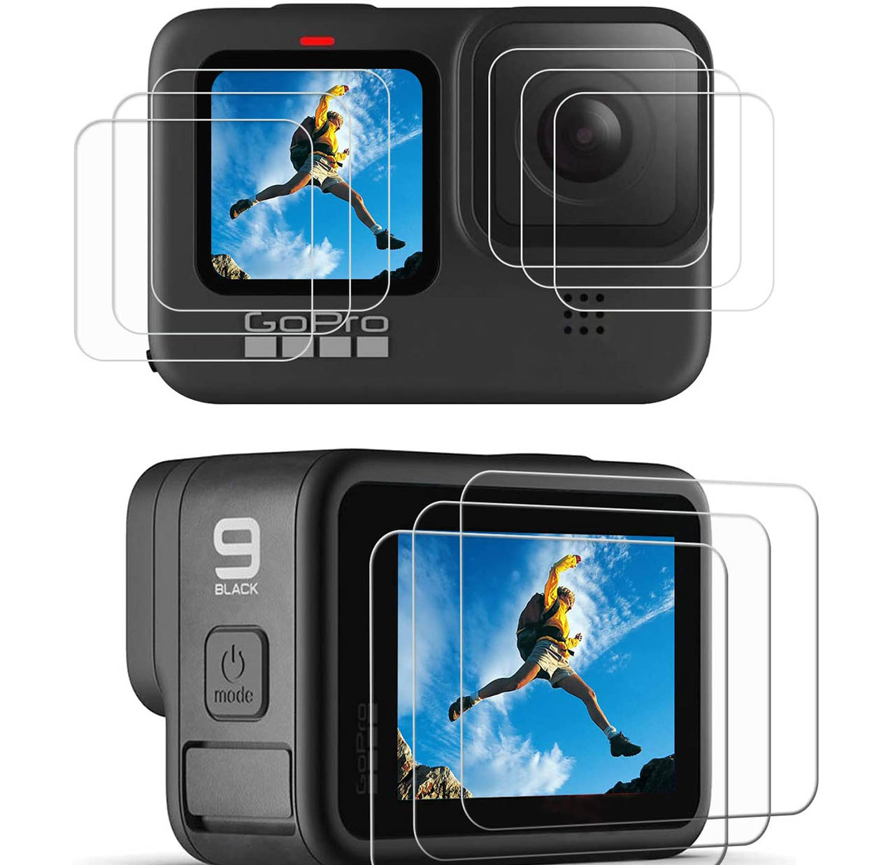 GoPro HERO9 Ultra Clear LCD Screen Protector + Lens Protector