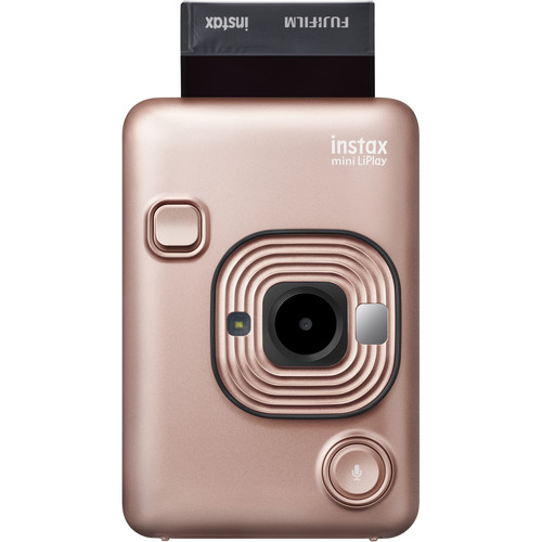 FUJIFILM INSTAX Mini LiPlay Hybrid Instant Camera (Blush Gold)