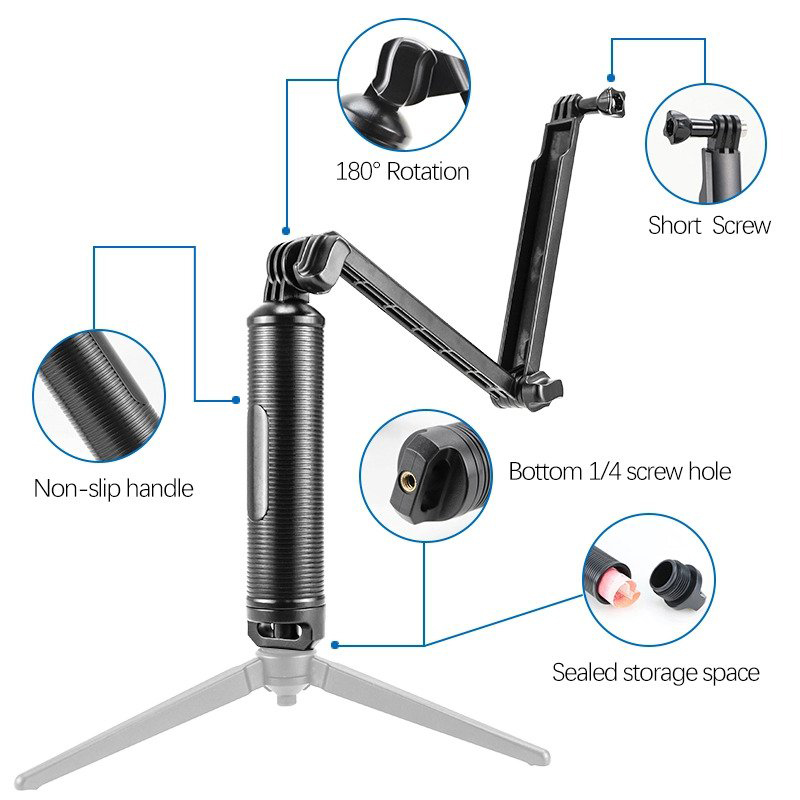 3-Way monopod floating for Action Camera