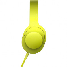 Sony h.ear on High-Resolution Audio Headphones MDR-100AAP (Lime Yellow)