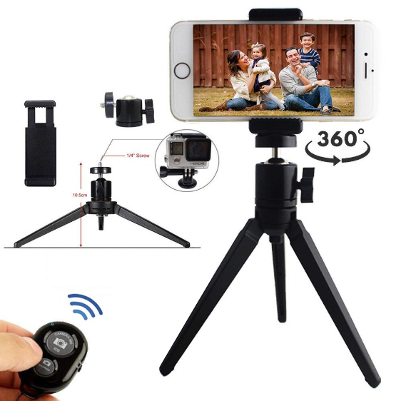 Aluminum Tripod Kit For Mobile