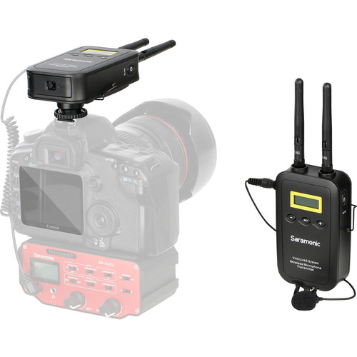 Saramonic VmicLink5 RX+TX Camera-Mount Digital Wireless Microphone System with Bodypack Transmitter and Lavalier Mic (5.8 GHz)
