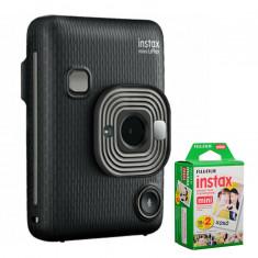 FUJIFILM INSTAX Mini LiPlay Hybrid Instant Camera (Dark Gray) with 20 Exposures