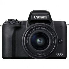 Canon EOS M50 Mark II Mirrorless Digital Camera with 15-45mm Lens (Black)