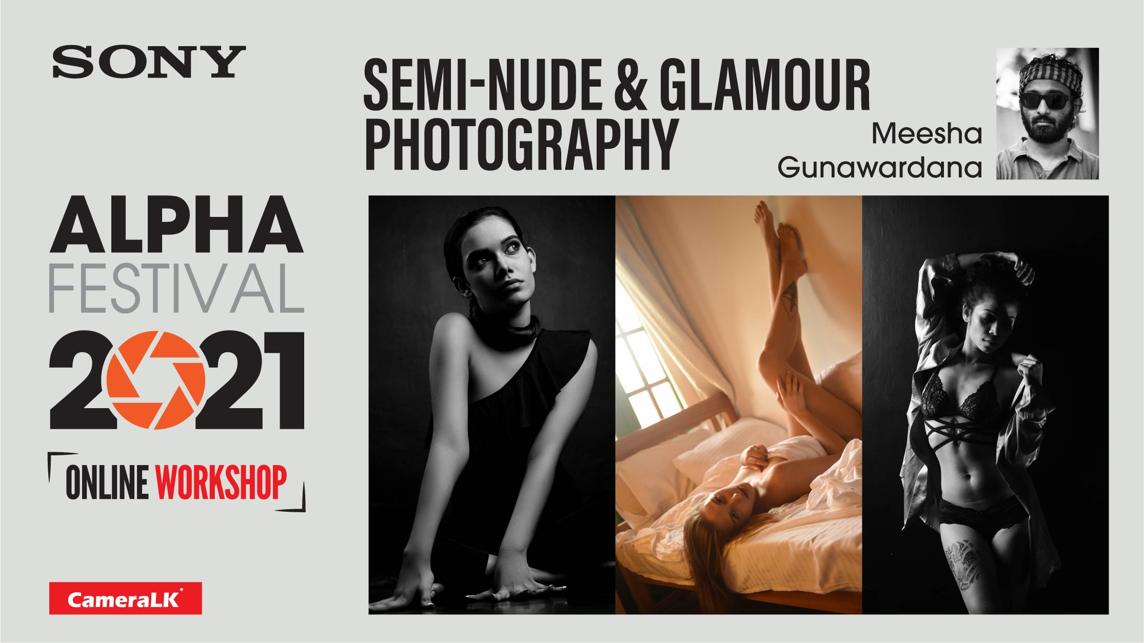 Semi-nude & Glamour Photography Workshop By Meesha Gunawardana