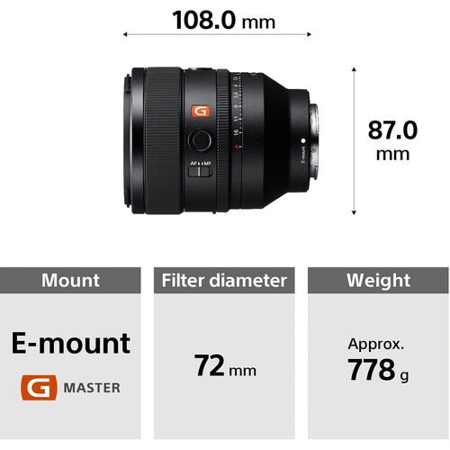 Sony FE 50mm f/1.2 GM Lens
