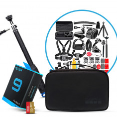 GoPro All in One Package - Telesin Battery, LEDISTAR LDX 808 Selfie Stick, 50 in 1 Accessories Kit And SanDisk 64GB Extreme Card