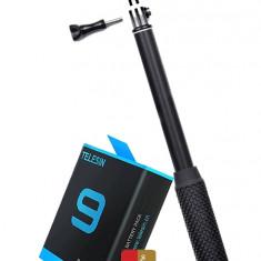 GoPro Travel Package - Telesin Battery, LEDISTAR LDX 808 Selfie Stick And SanDisk 64GB Extreme Card