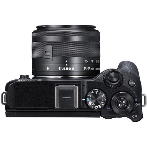 Canon EOS M6 Mark II Mirrorless Digital Camera with 15-45mm Lens  (Black)