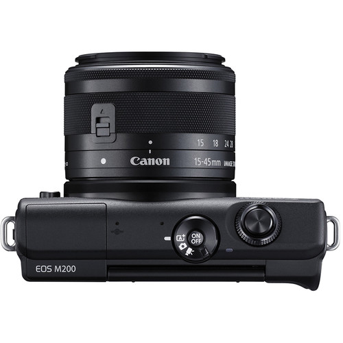 Canon EOS M200 Mirrorless Digital Camera with 15-45mm Lens (Black)