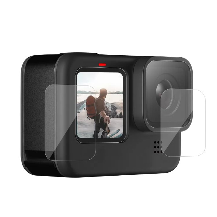 TELESIN Tempered Glass Screen & Lens Protective Film Cover For GoPro 9