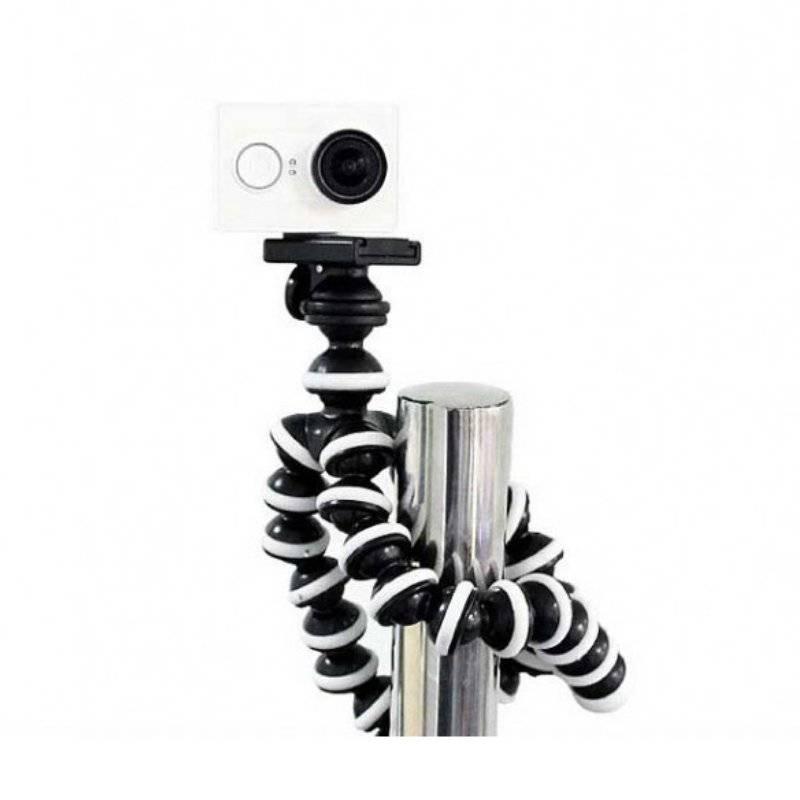 TELESIN GP-TRP-STD Octopus Holder for Xiaomi Yi Xiaoyi Sport Camera - Black+White