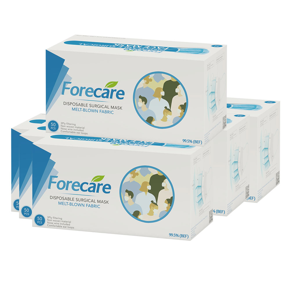 Forecare Surgical Masks Box (50 Masks) - Blue