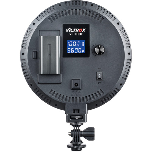 Viltrox VL-300B Round Bi-Color LED Light with LCD Display