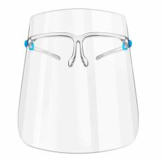 Full Face Shield on Glasses Frame