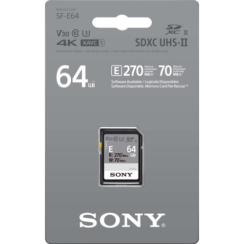 Sony 64GB SF-E Series UHS-II SDXC Memory Card