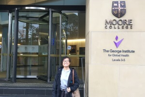 Visiting Vanessa at Moore Theological College