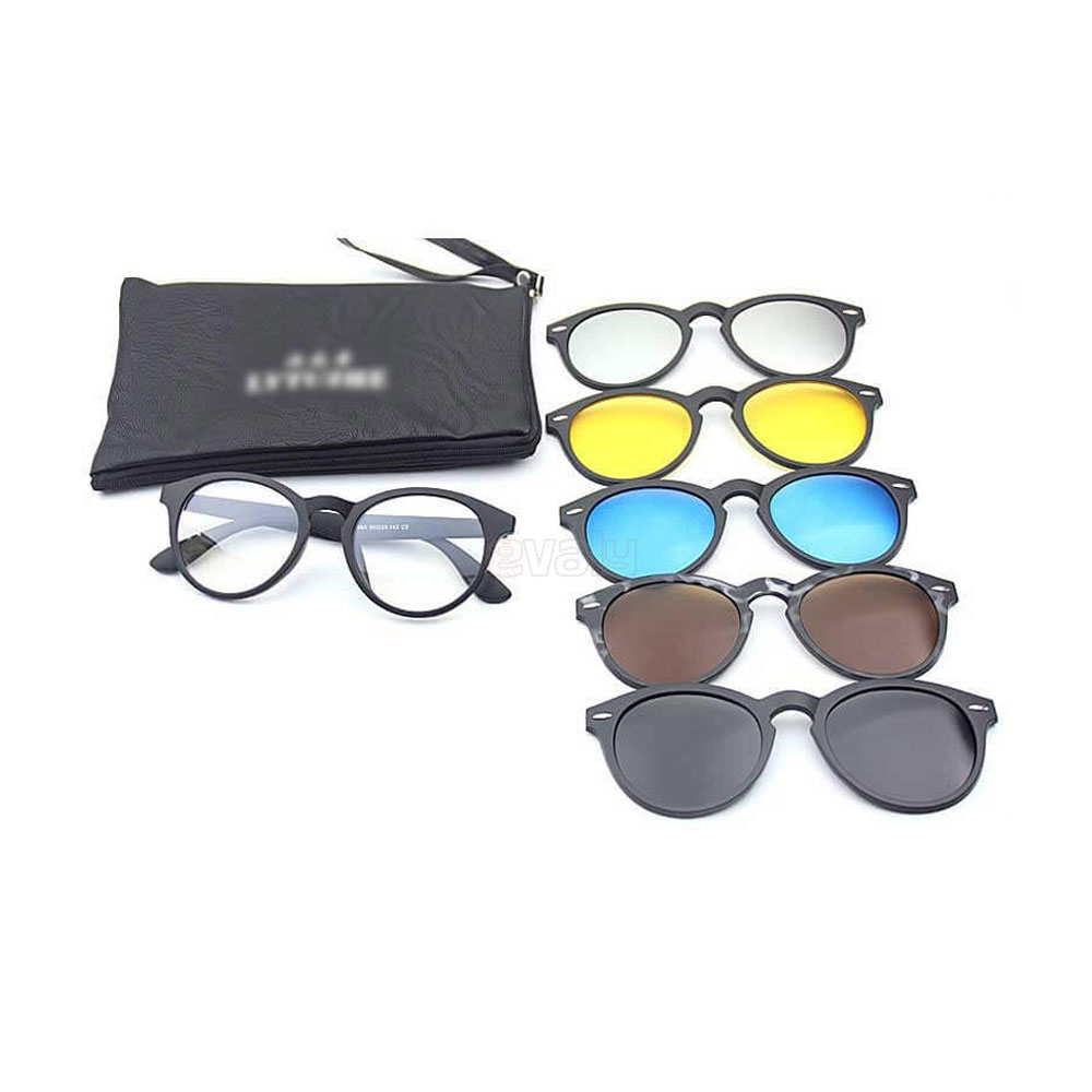 Magnetic Sunglasses 6 in 1 for Men - Multicolor  E-valy Limited - Online  shopping mall