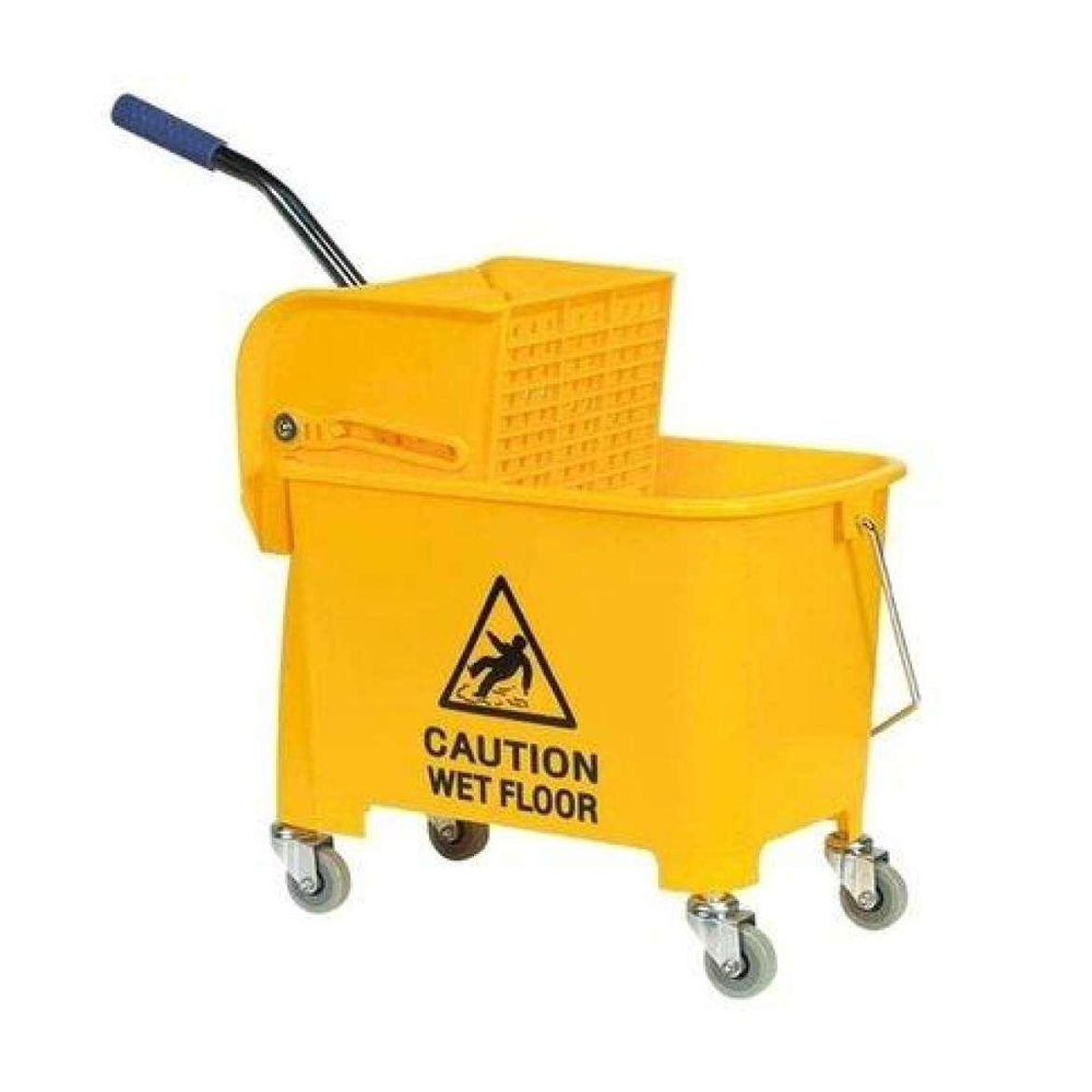 Yellow cleaning bucket wheelie bin liners home bargains