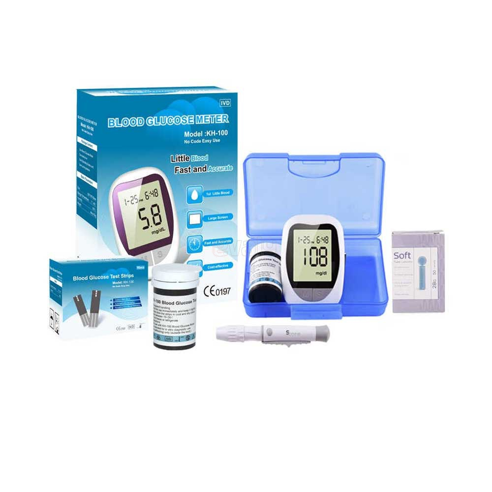 Purecare Blood Glucose Meter Diabetic Monitor Blood Sugar Glucometer 10 Strips 10 Lancets E Valy Limited Online Shopping Mall