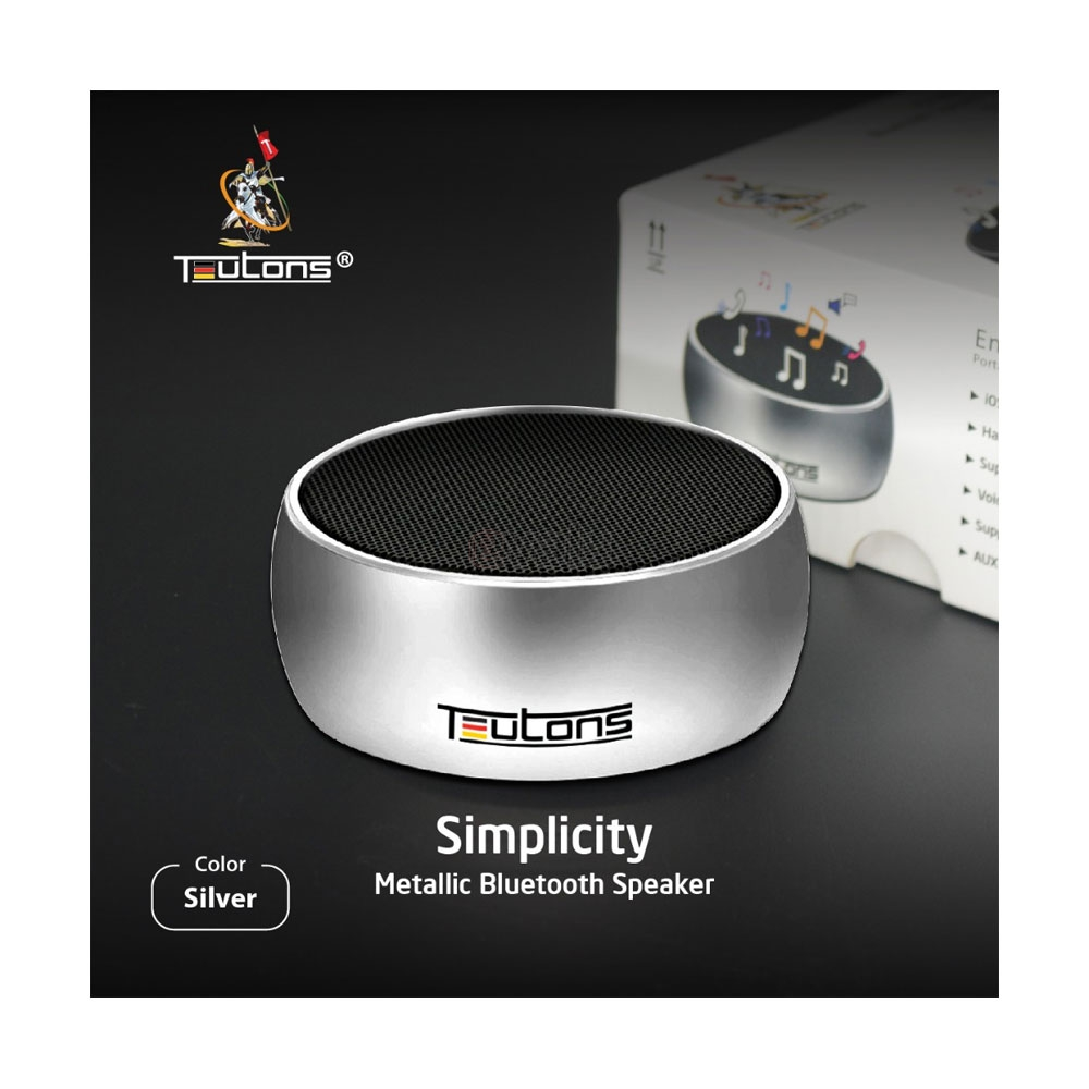 Teutons Simplicity Metallic Bluetooth Speaker E Valy Limited Online Shopping Mall