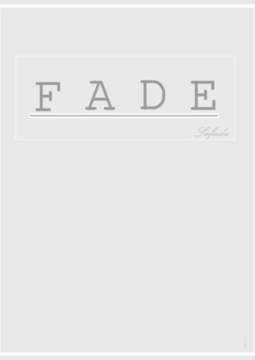 ปกนิยายเรื่อง Fade