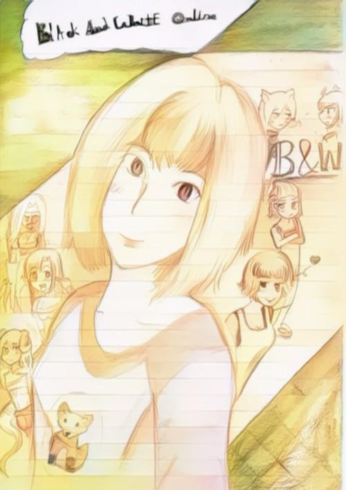หน้าปกนิยาย เรื่อง Black and White online นางเอกเทพซ่าตะลุยเกมออนไลน์!!