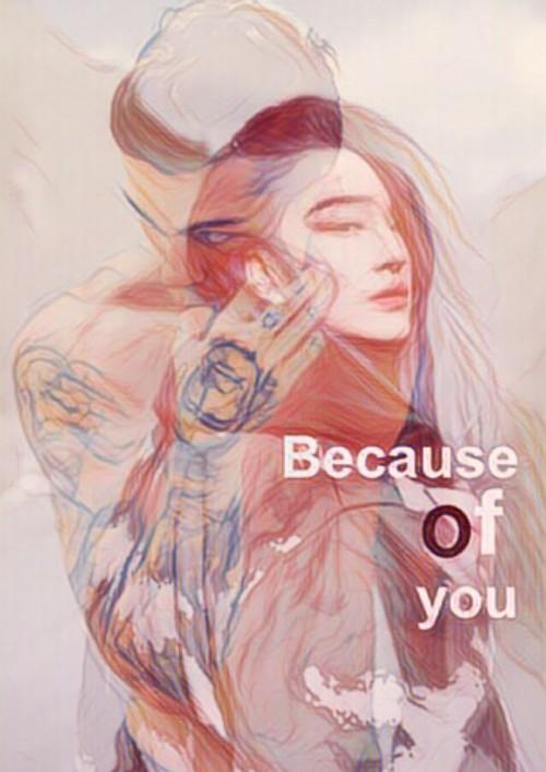 ปกนิยายเรื่อง Because of you [Yaoi,Mpreg]