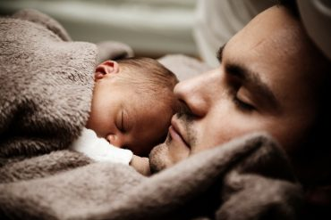 Father baby moment