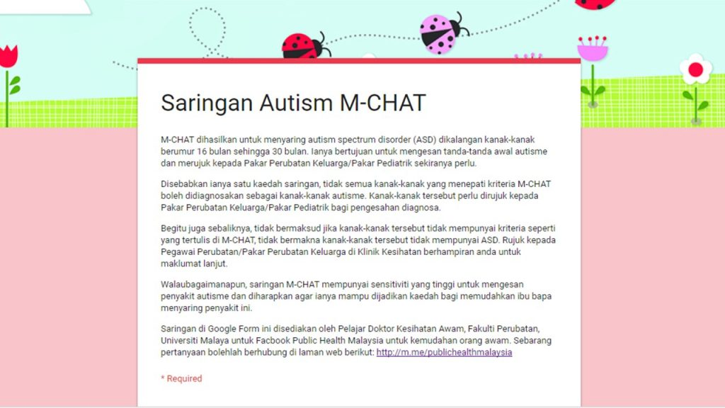tanda autisme