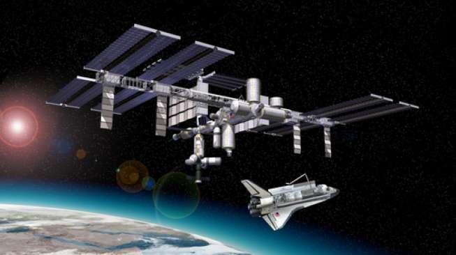 Ilustrasi stasiun luar angkasa internasional (ISS) [Shutterstock].