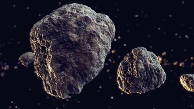 Ilustrasi asteroid (Shutterstock).