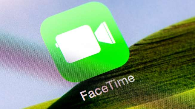 Ilustrasi aplikasi FaceTime. [Shutterstock]