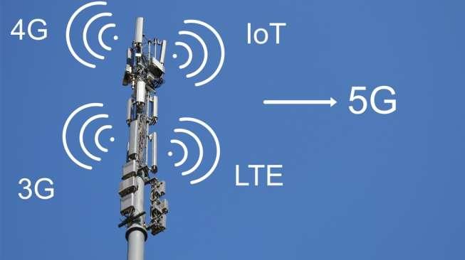 Beda 4G dan 5G: Kecepatan hingga Ponsel yang Mensupport - Ilustrasi tentang teknologi jaringan 5G (Shutterstock).