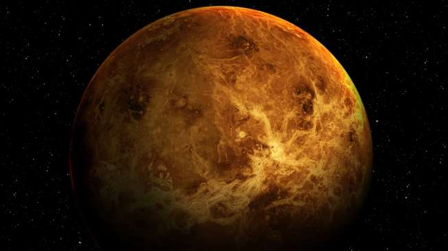Ilustrasi planet Venus (Shutterstock/NASA).