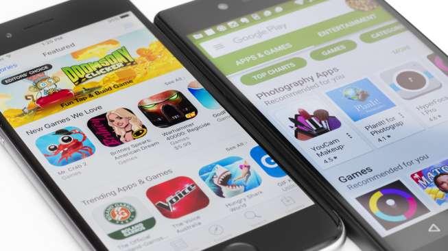 Aplikasi game untuk ponsel Android yang ada di Google Play Store. [Shutterstock]