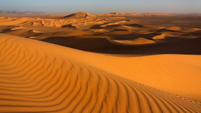 Gurun Sahara di wilayah Maroko (Shutterstock).