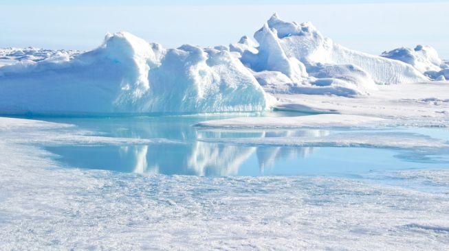 Para ilmuwan Denmark dan Swiss berhasil menemukan pulau paling utara di dunia pada Juli 2021. Foto: Kutub Utara. [Shutterstock]
